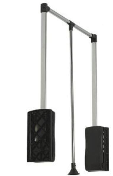 KLEIDERLIFT - bis 8 kg Tragkraft - Schwarz Breite  450-600 mm bzw. 600-830 mm