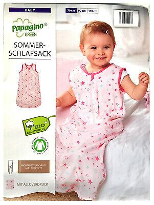 Baby Schlafsack Bio Baumwolle Strampelsack Pucksack Kleinkind Neu Gr 70 Elefant