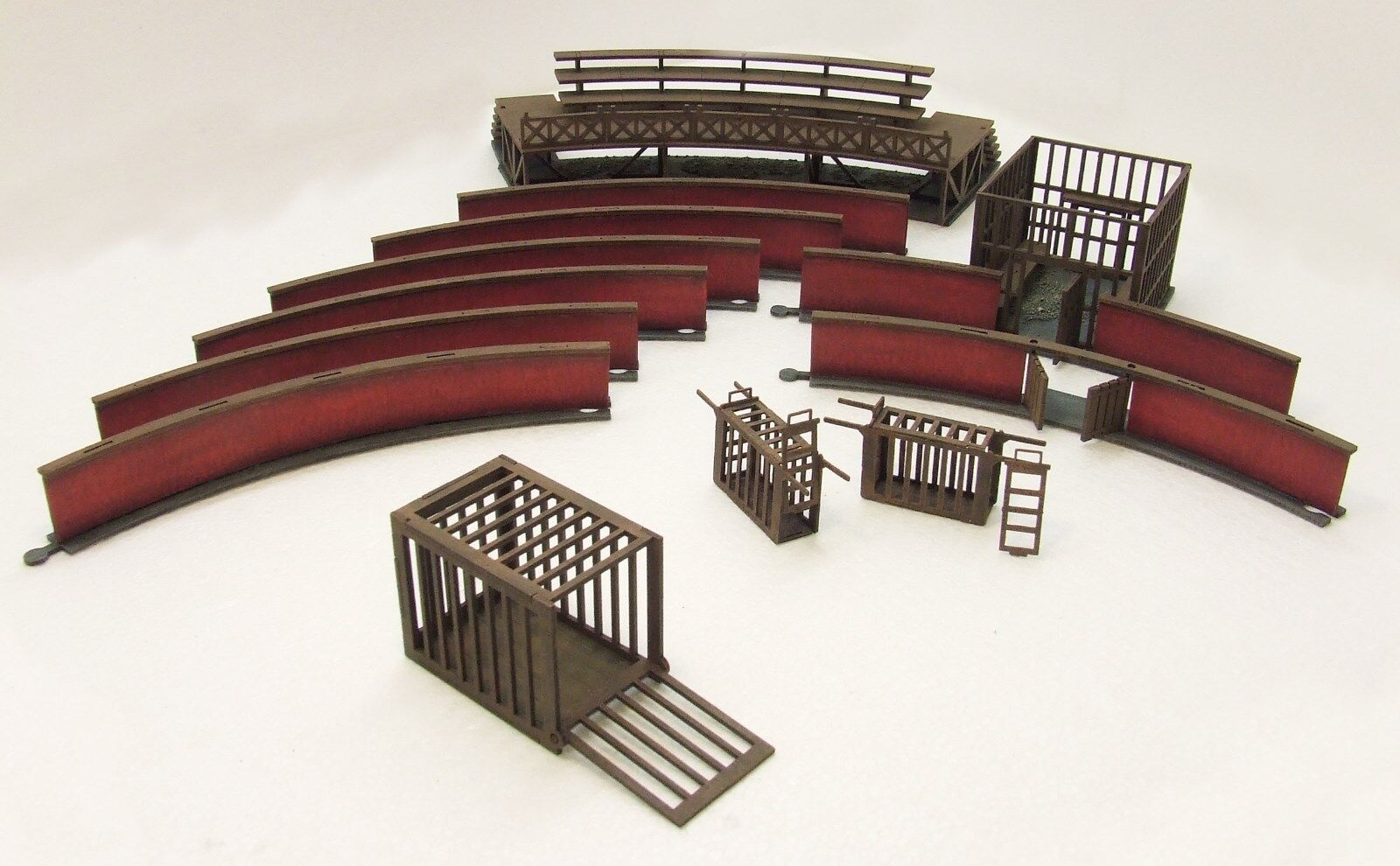 LUDUS ARENA SET  (Streets & Gangs of Rome) 28mm 28mm 28mm FULLY ASSEMBLED & PAINTED MDF 33e48b
