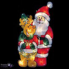 45cm Batterie Aufleuchtend Vor Beleuchtet Weihnachtsmann Weihnachten Fensterbild