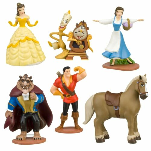 6pc Beauty /& The Beast Playset 6 Figure Cake Topper *Fast Shipping* Toy Doll Set