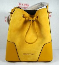 a937524488 item 2 Michael Kors Cary Suede Leather Small Bucket Crossbody Bag in  Marigold Yellow -Michael Kors Cary Suede Leather Small Bucket Crossbody Bag  in Marigold ...