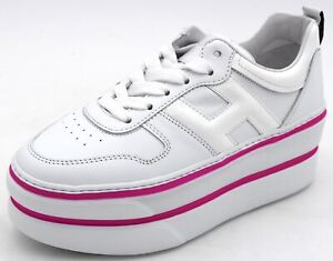 Details about Hogan h449 Womens Sneaker Athletic Shoe with Wedge Casual gyw4490bs00i6s9997- show original title