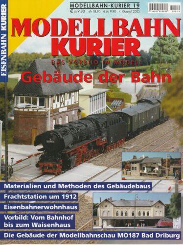 EK Modellbahn Kurier Heft 19 Gebäude der Bahn Materialien Methoden Gebäudebau