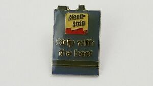 Vintage Klean-Strip Strip With Best Advertising Lapel Hat Pin F9