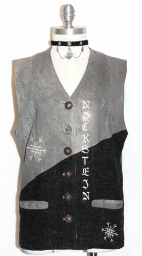B40 Women German Kogt B40 Vest Jacket Hunting And Vinterfrakke Leather Boiled og Winter Vestjakke Kvinder Jagt Wool Læder Coat Uld Tysk RZ8xqa