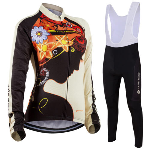 Women/'s Sports Cycling Bike Long Sleeve Clothing Bicycle Set Suit Jersey Pants