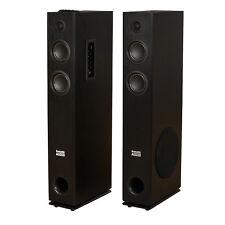 Acoustic Audio TSi300 Bluetooth Powered Floorstanding Tower Home Speaker Pair