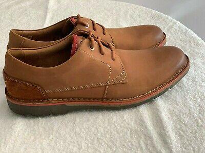 NEW Clarks EDGEWICK PLAIN Tan Leather Men Lace up Shoe Sizes UK 8 12 G   eBay