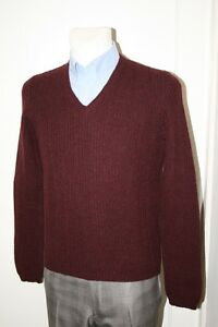 PRADA-LUXUS-V-NECK-PULLOVER-100-WOLLE-ROT-NEU-GR-50-48-SMM556-MADE-IN-ITALY