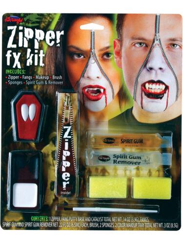 Kit Visage Vampire zipper zip crocs Effets Spéciaux Halloween Maquillage Fx Vampiress