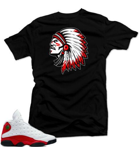 "Shirt to match Air Jordan 13 Chicago Sneakers .""Chief 13"" Black"
