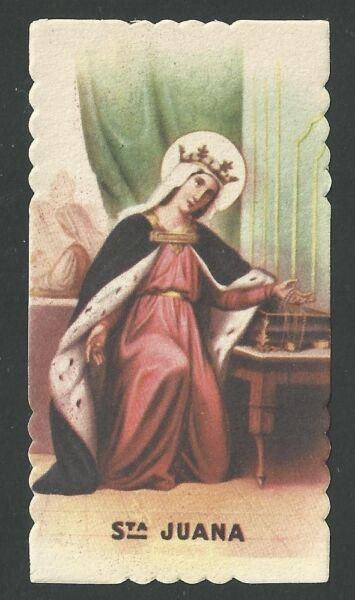 Amistoso Estampa Antigua De Santa Juana Image Pieuse Holy Card Santino FijacióN De Precios SegúN La Calidad De Los Productos.