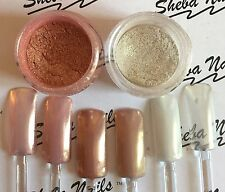 Magic Mirror Chrome Pigment Nail Powder ROSE GOLD and WHITE GOLD Combo Kit
