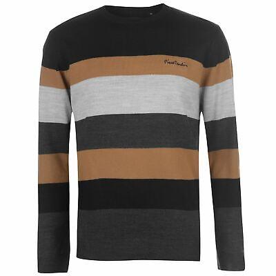 Pierre Cardin Mens Wide Stripe Crew Knit Jumper Sweater Pullover Long Sleeve äRger LöSchen Und Durst LöSchen
