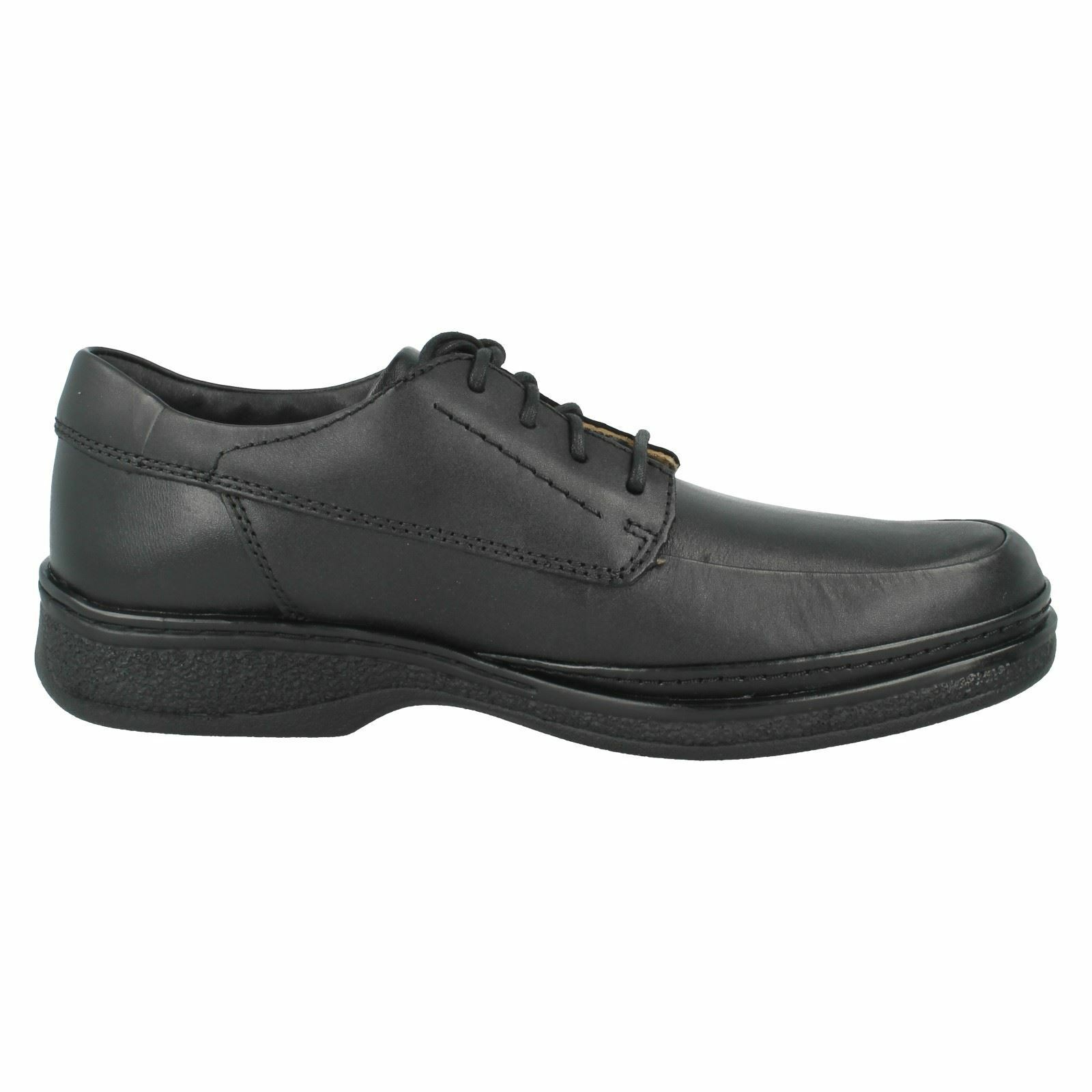 Details about  /CLARKS Stonehill Pace Mens Black Leather Wide Fit Lace Up Shoe