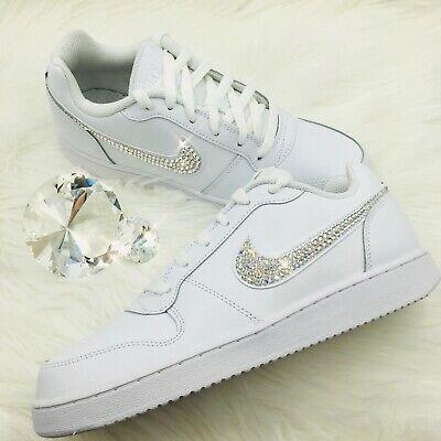 Shoes with Swarovski Crystal Swoosh