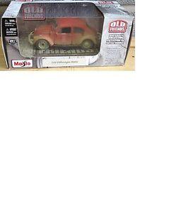Maisto Old Friends Volkswagen Beetle Échelle 1:24 Voiture neuve Rare