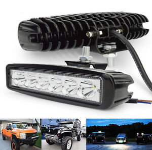 18W/800LM Bright Light Spot 6LED Work Bar Driving Fog Offroad Truck Car Lamp New