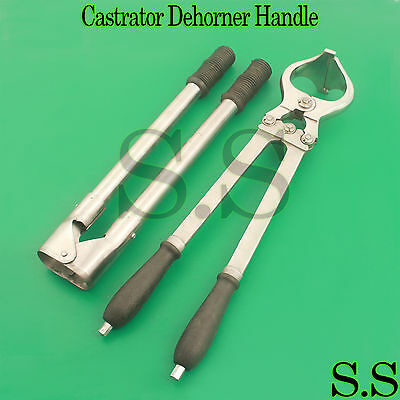 "Agriculture & Forestry Business & Industrial 100% Quality Castrator Castration 18"" Dehorner Stainless Handles 17"" Excellent In Cushion Effect"
