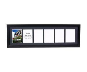 Creativepf 6 Opening Multi 5x7 Black Picture Frame W 10x32 Black