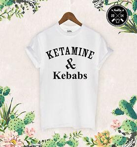 Stable Ketamine & Brochettes T Shirt La Cocaïne Et Caviar Protein Shakes Pizza Licorne Dope-afficher Le Titre D'origine