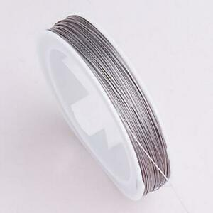 90-Meters-Tiger-Tail-Beading-Wire-Jewelry-Making-Cord-Findings-0-45mm-Silver