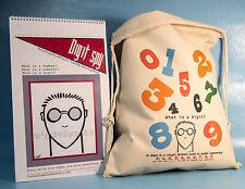 COOL MATH for kids DIGIT SPY Poster Book w/ Flour Sack Toy Bag MATH GAMES