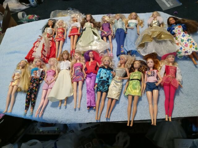 Huge Mixed Lot Of Barbies Dressed 1 Doll Not A Barbie Lot of 20 Dolls