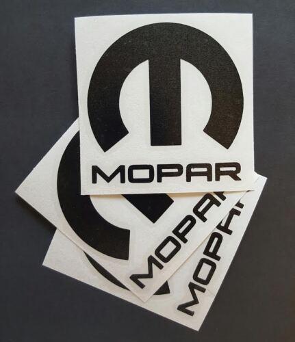 """3 X Mopar Vinyl Decal VINYL Sticker Dodge Jeep 3/""""X3/'/' BLACK DIE CUT"""