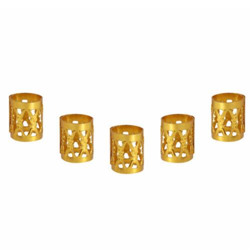 50pcs 8*9mm Cylinder Dreadlock Hair Beads Tibetan Decor Hair Braid Accessories