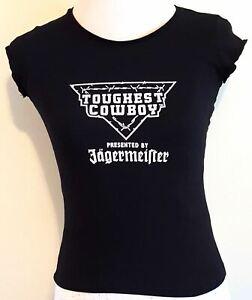 Jägermeister Toughest Cowboy USA Tank Top schwarz Damen T-shirt Größe M Cut Out