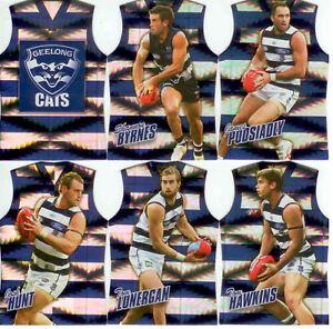 2010-Select-AFL-Prestige-Holofoil-Jersey-Die-Cut-Card-Team-Set-12-Geelong