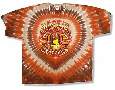 """THE DOOBIE BROTHERS """"GUITAR TOUR 2011"""" TIE DYE T-SHIRT NEW OFFICIAL ADULT 3XL"""