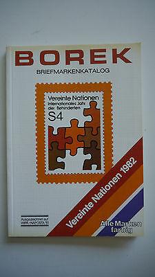 k21 Borek Briefmarkenkatalog Vereinte Nationen 1982 Kunden Zuerst