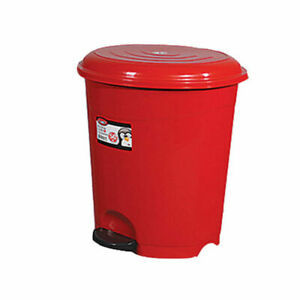 High-Quality-Red-Pedal-Rubbish-Waste-Dust-Bin-6-Litres