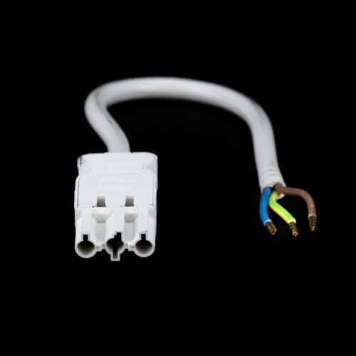 Anschlußkabel Wieland spina con tubo alimentazione 2 METRI Bianco Lampada Cavo Collegamento