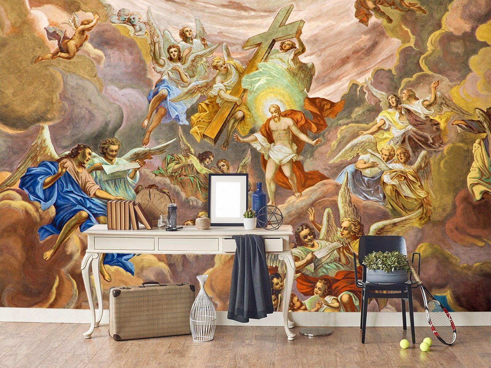 3D Gott Engel Ölgemälde 23 Tapete Wandgemälde Tapete Tapeten Familie Kinde DE