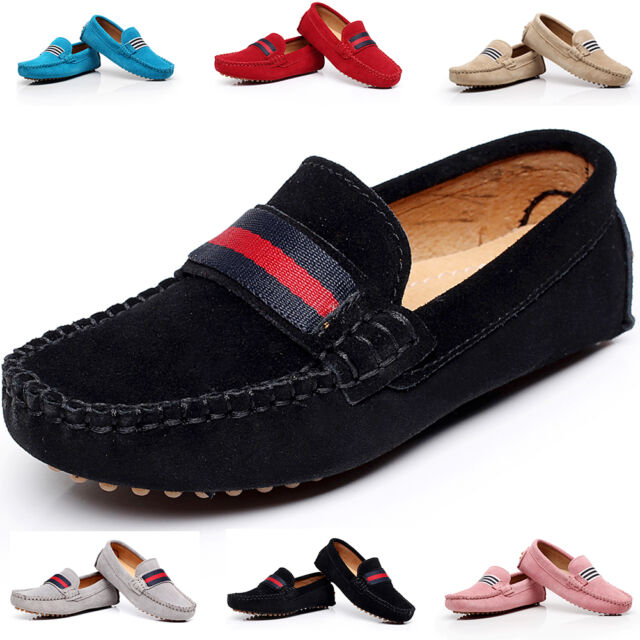 KVbabby Kids Boys Suede Leather Loafer Flats Casual Slip-Ons Toddler Soft Shoes Boat Dress Shoes