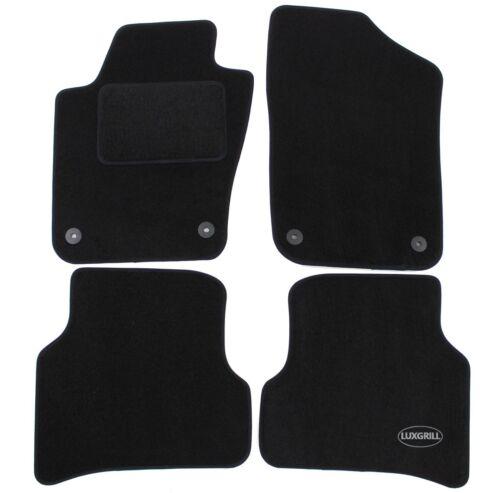 Autoteppiche Fußmatten Velours für Seat Ibiza 2009-2017 4tlg schwarz Bef.rund