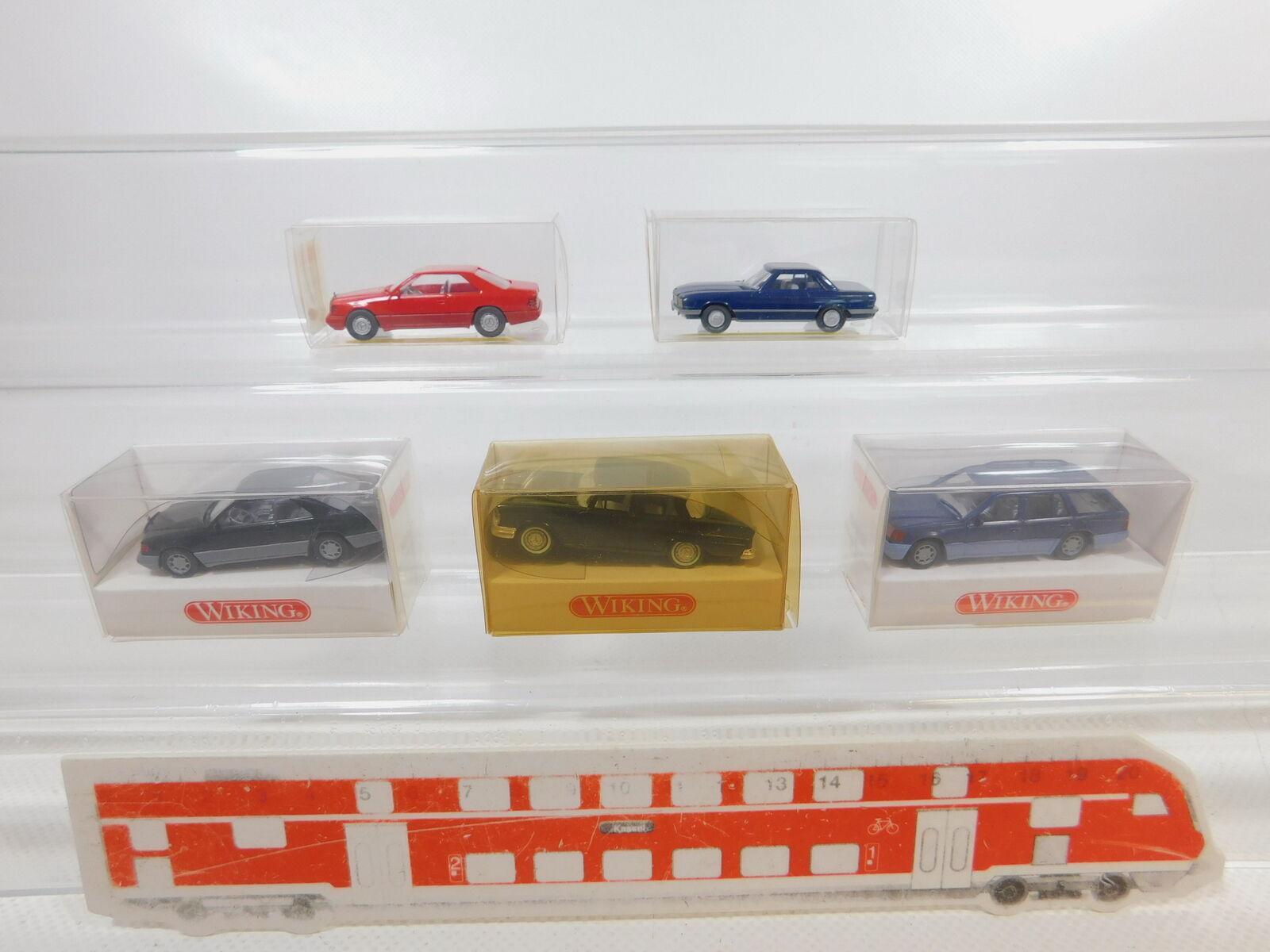 CA276-0, 5 x wiking 1 87 H0 Car MB  143+824+140 350 Sl +154 320 Te Mint+Box