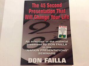 * Nouveau * Le 45 S Présentation Qui Va Changer Votre Vie Par Don Failla-afficher Le Titre D'origine