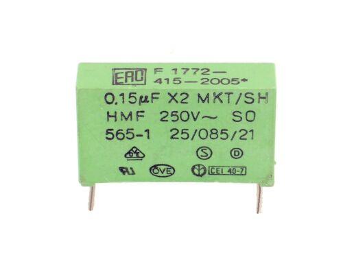 O255 1x 0,15µF 250V~ ERO F1772-415-2005  X2 MKT 150nF,uF,Kondensator