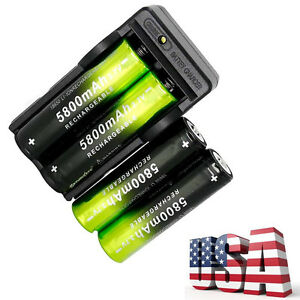 4-RECHARGEABLE-BATTERYS-amp-1-CHARGER-FOR-ATOMIC-BEAM-USA-FLASHLIGHT