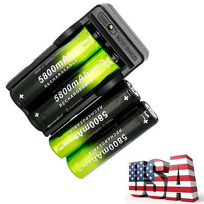 FOR ATOMIC BEAM USA FLASHLIGHT 4-RECHARGEABLE BATTERY/'S /& 2-CHARGERS