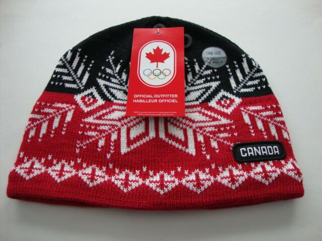 576f8d33aae 2018 PyeongChang Winter Olympic Team Canada HBC Snowflake Tuque Toque Hat  Adult