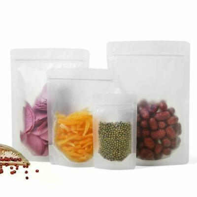Matte Clear Plastic Stand Up Zip Bags Food Gift Lock Pouch Packaging Resealable
