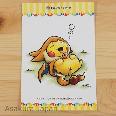 Pokemon Center Mega Tokyo Mega Charizard Y Pikachu Postcard #5 Not sold in store