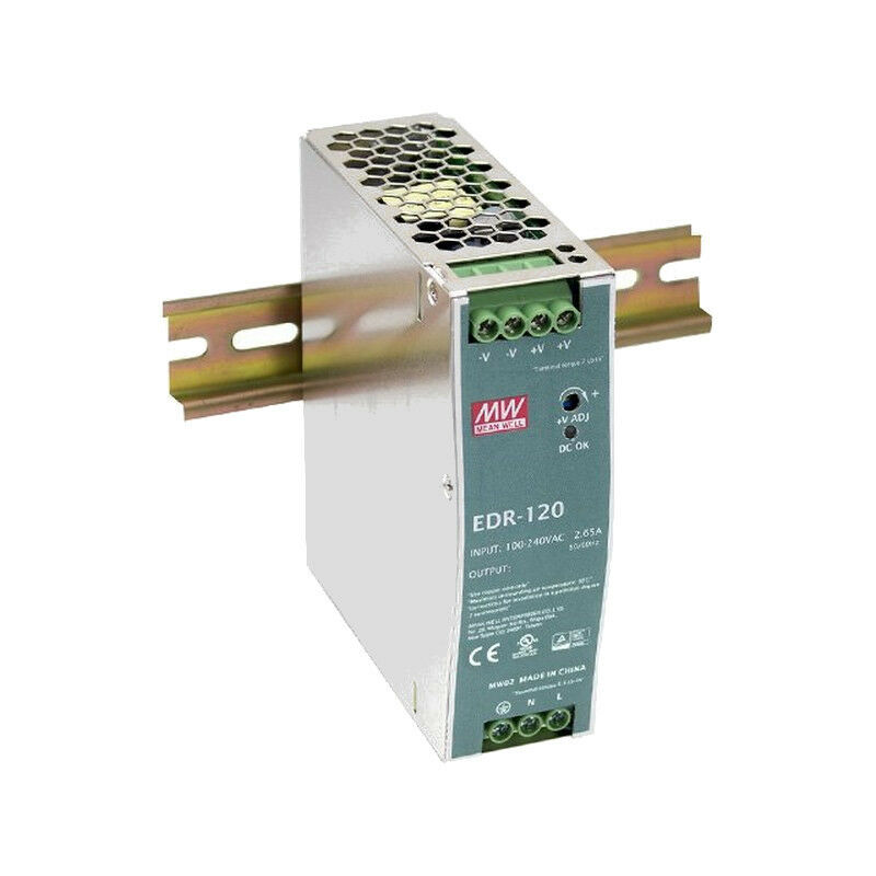 MeanWell EDR-120-48 120 W 48 A VDC/2.5 A 48 Bloc D'AlimentAtion DIN Rail Mounted 000072 96744d