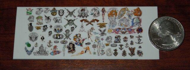 1//6 Scale Custom Tattoos Waterslide Decals Animal variety pack